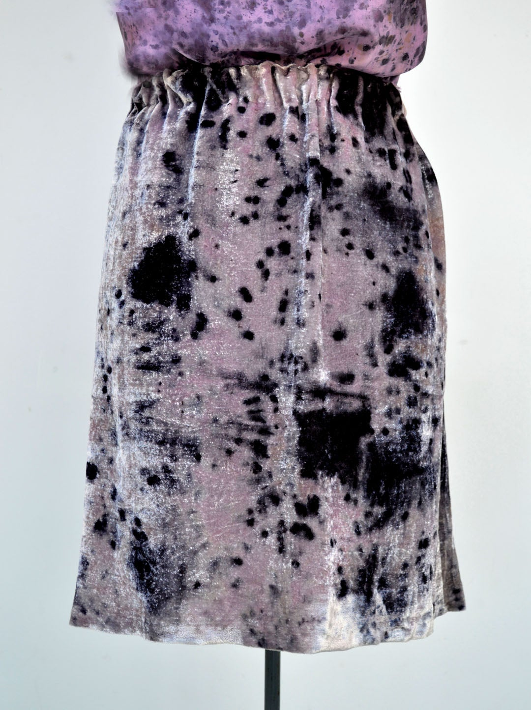 Image of Very Berry velvet skirt