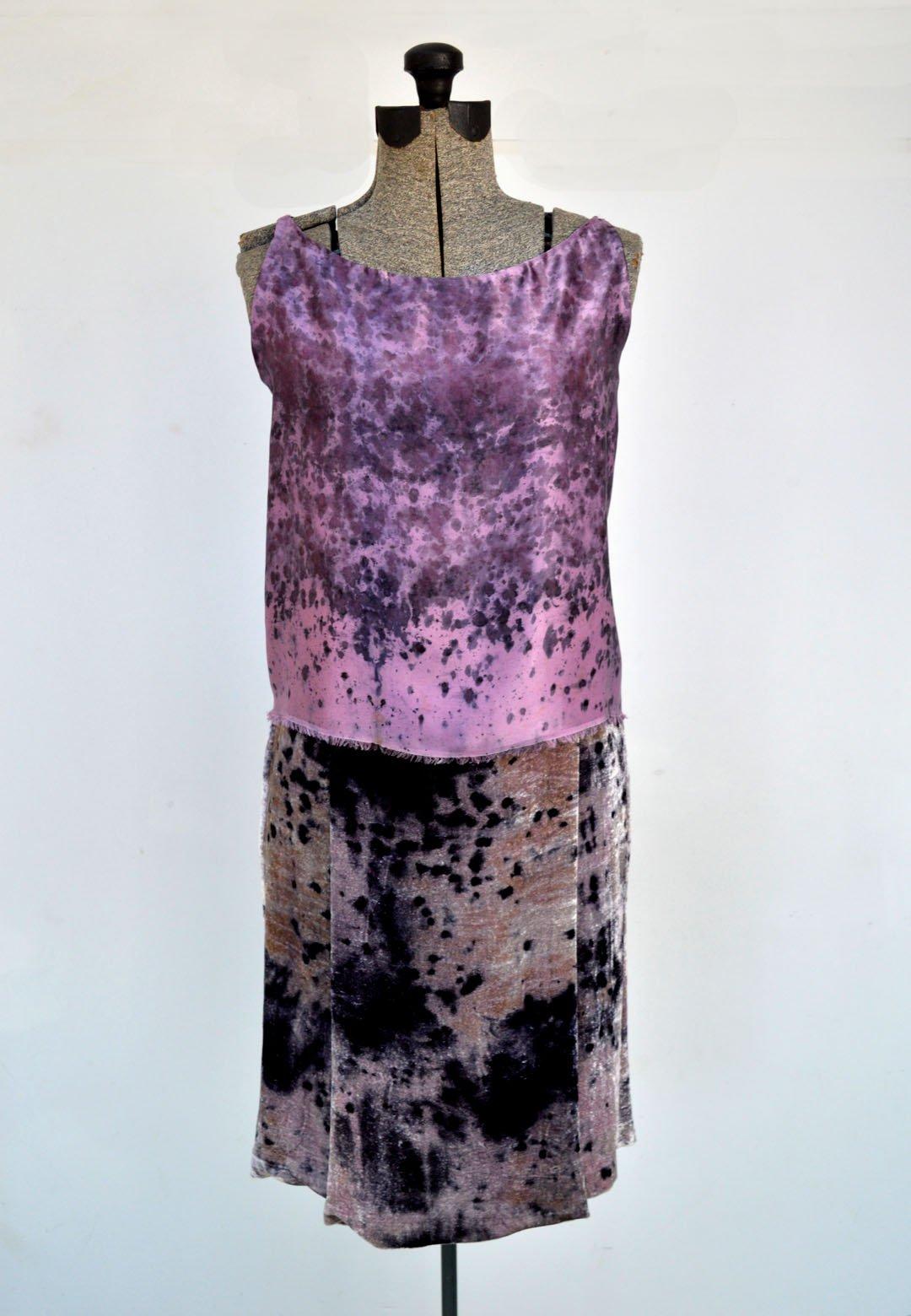 Image of Very Berry velvet skirt