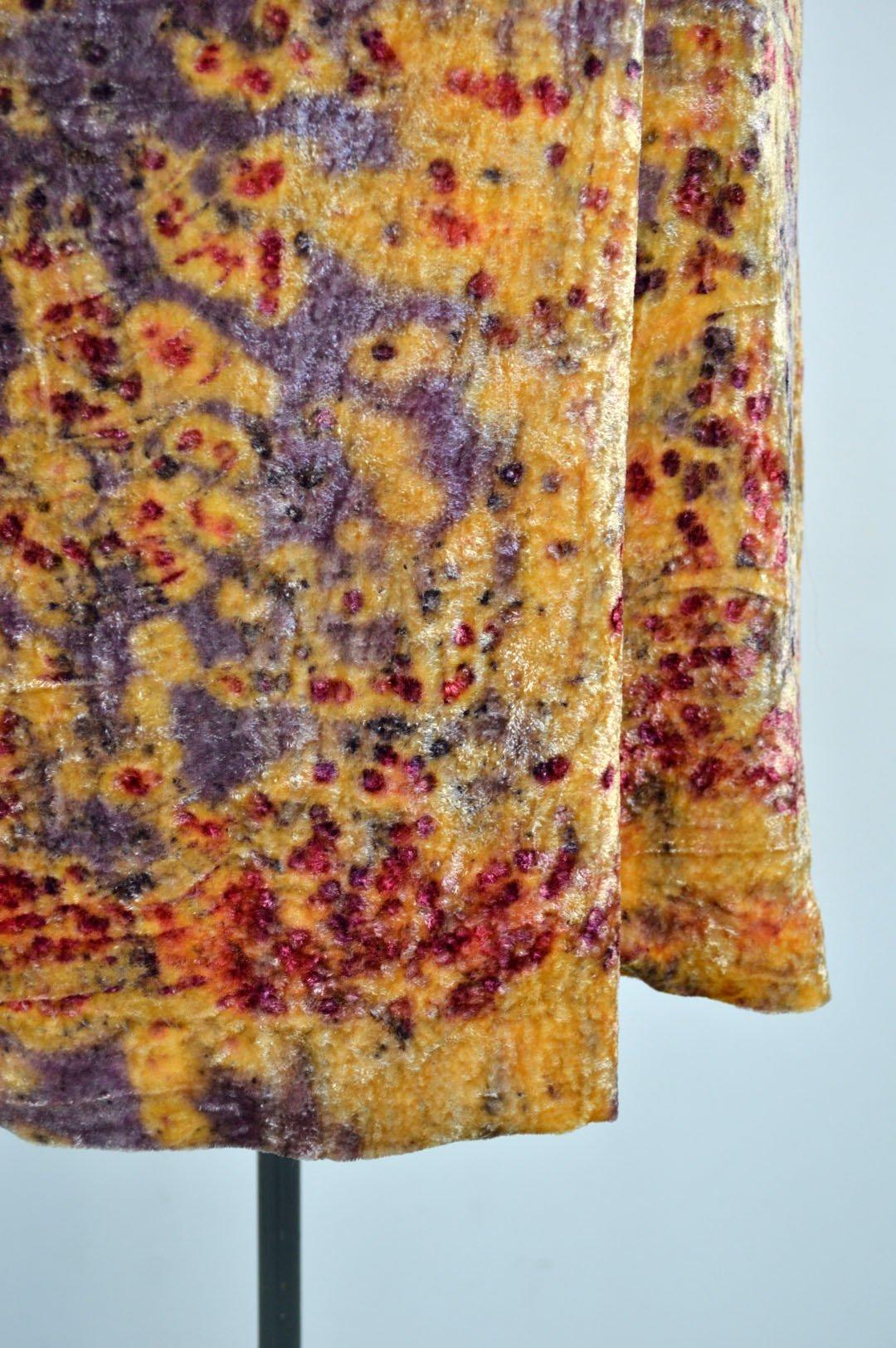 Image of pull on velvet skirt