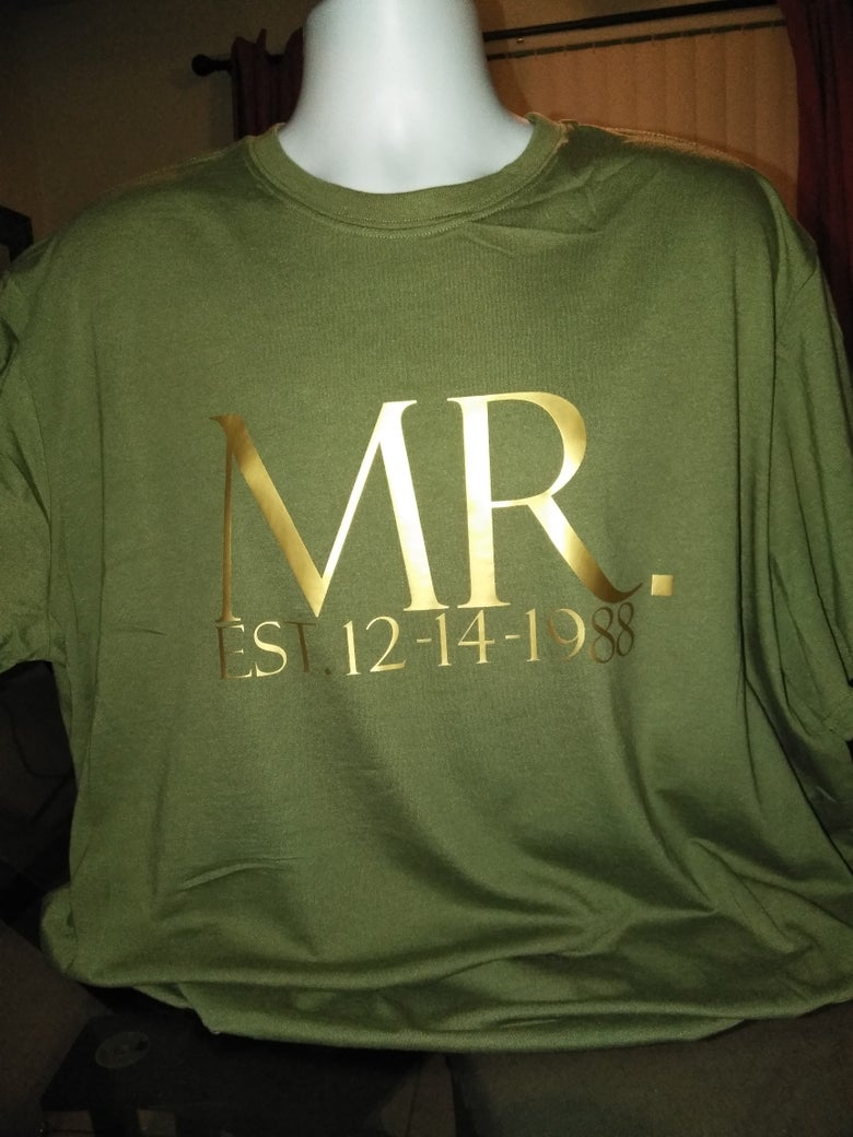 Image of The Married Tee U CAN ADD YOUR OWN DATES JUST AN EXAMPLE  ALSO THE BACK CAN BE DONE $5.00 EXTRA