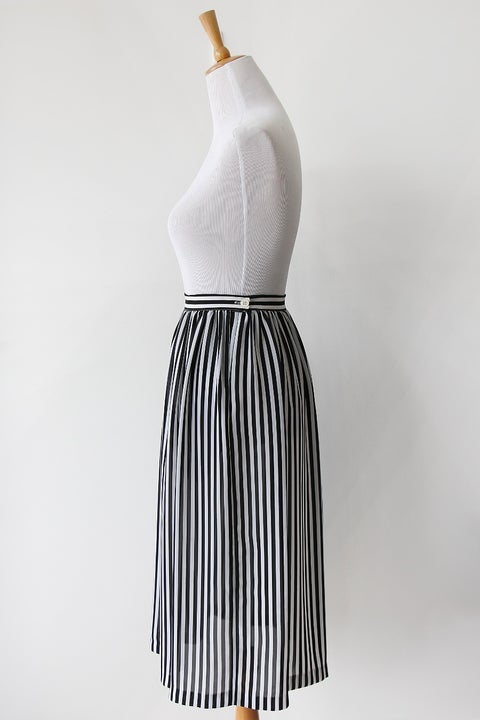 Image of SOLD Classic Chaus Black And White Skirt