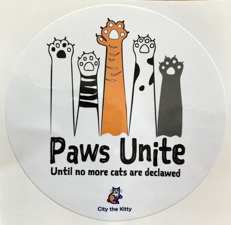 Image of 3x3 inch- Paws Unite Stickers- Color & BW letters- 5 stickers