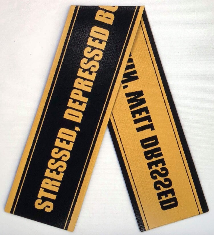 "Image of Stressed, Depressed but well dressed scarf ""THE BECOMING"" SS18"