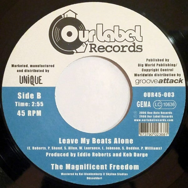 """Image of BACK IN STOCK 7"""" THE MAGNIFICENT FREEDOM - F*CK OFF AND LEAVE ME ALONE B/W LEAVE MY BEATS ALONE"""