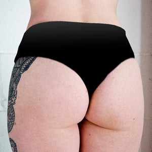Image of Nautical Mermaids Tattoo Low Rise Twerk Thong Shorts