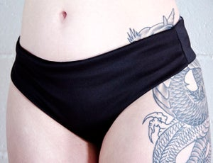 Image of Tattoo Floral Low Rise Twerk Thong Shorts