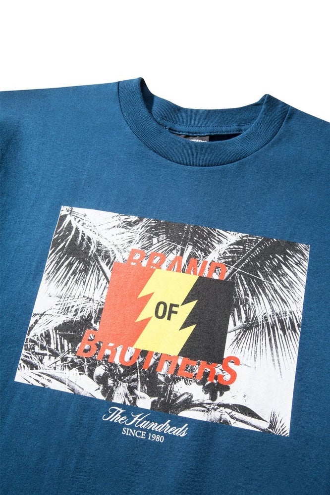 Image of THE HUNDREDS - BRANDS T-SHIRT (NAVY)