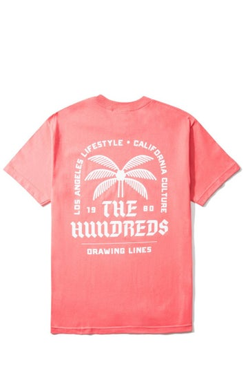 Image of THE HUNDREDS - LA CA LIFESTYLE T-SHIRT (CORAL)