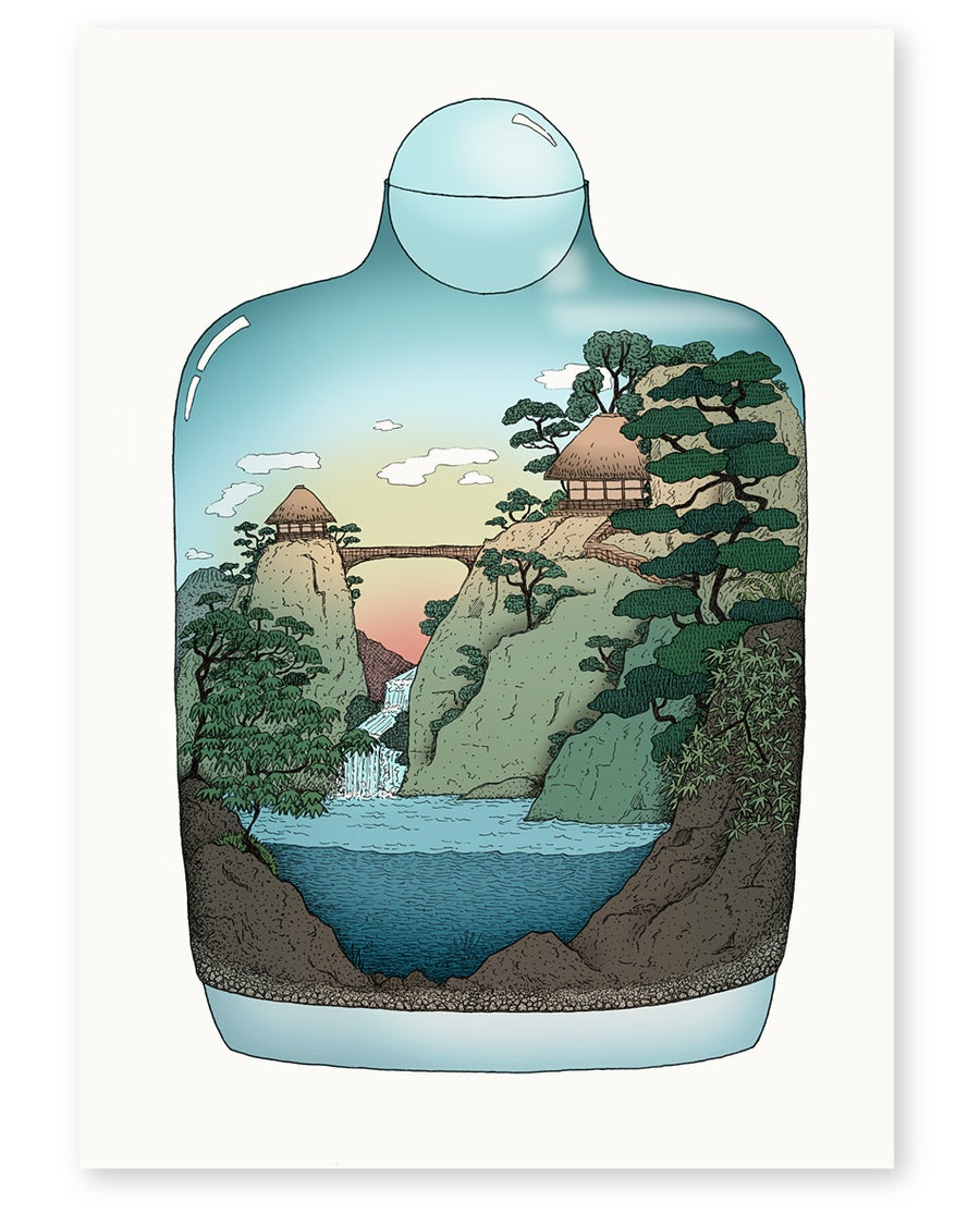 Image of 'Japanese Landscape' Limited Edition Art Print