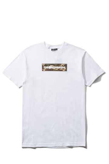 Image of THE HUNDREDS - CAMO BAR T-SHIRT (WHITE)