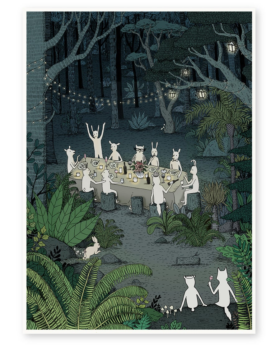 Image of 'Forest Party' Limited Edition Art Print