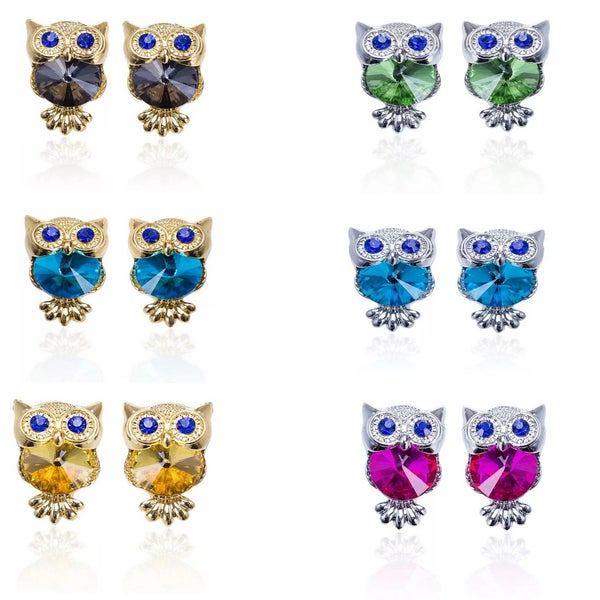 Image of Owl Gem Studs