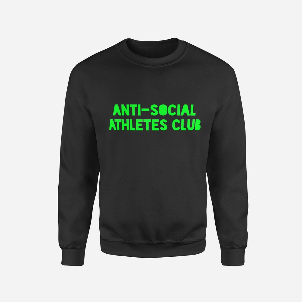 Image of Logo Sweat BLK/FLURO GREEN