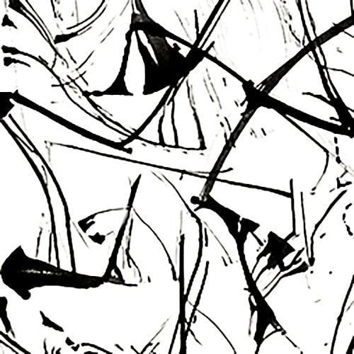 Image of Brushstrokes Black and White
