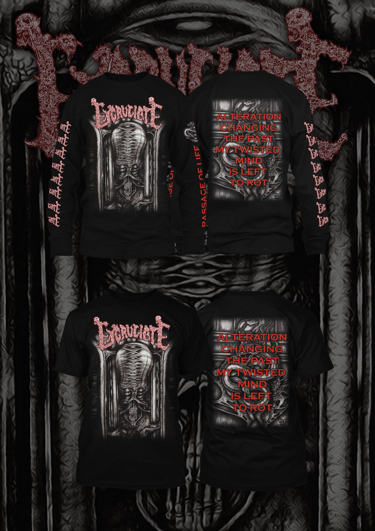 Image of Excruciate - Passage Of Life T-shirt / Longsleeve