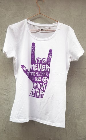 Image of It's never too late too be a rock star T-shirt