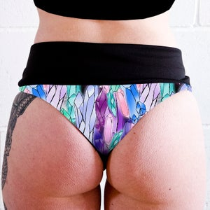 Image of Crystals High Waisted Twerk Thong Shorts