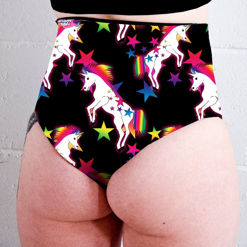 Image of Team Unicorn High Waisted Twerk Thong Shorts
