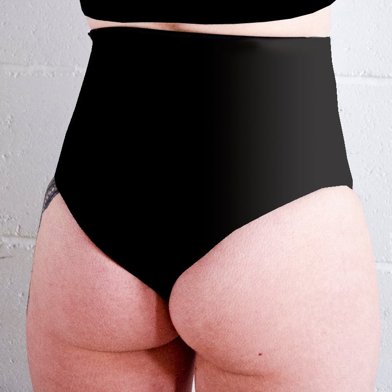 Image of Tattoo Floral High Waisted Twerk Thong Shorts