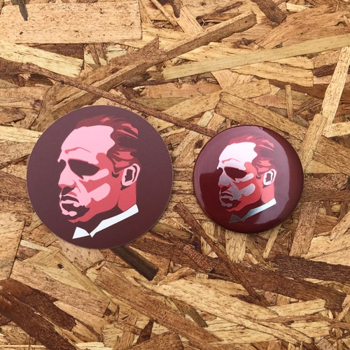 Image of Brando by Gummo (Button + Sticker)