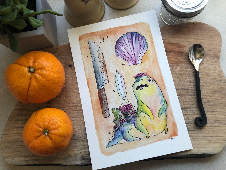Image of Tidebeast Print - Gurblegrlglglg