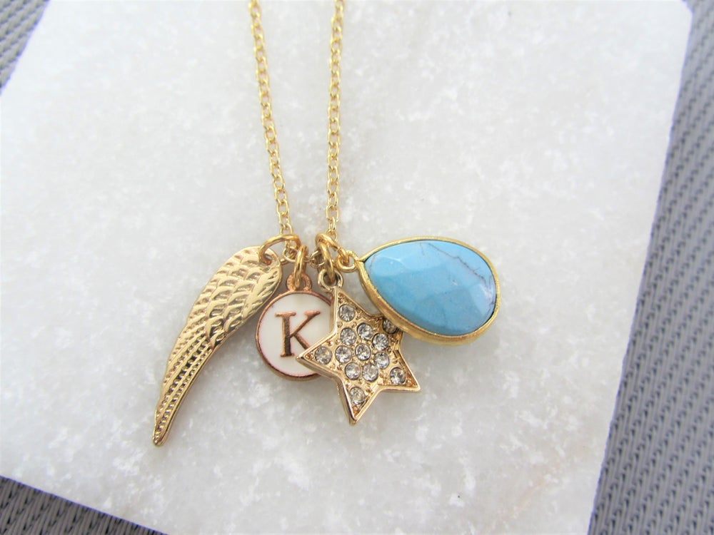Image of Personalised Gold Charm Necklace