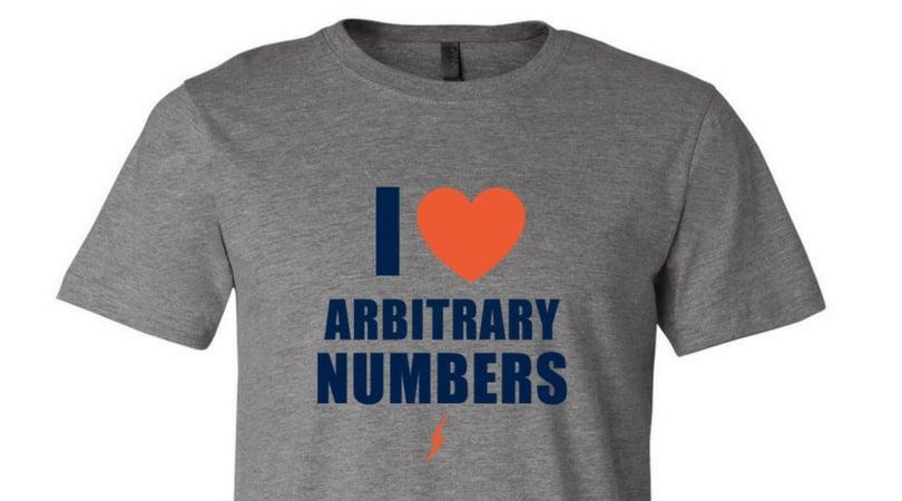 "Image of ""I Love Arbitrary Numbers"" Tee"