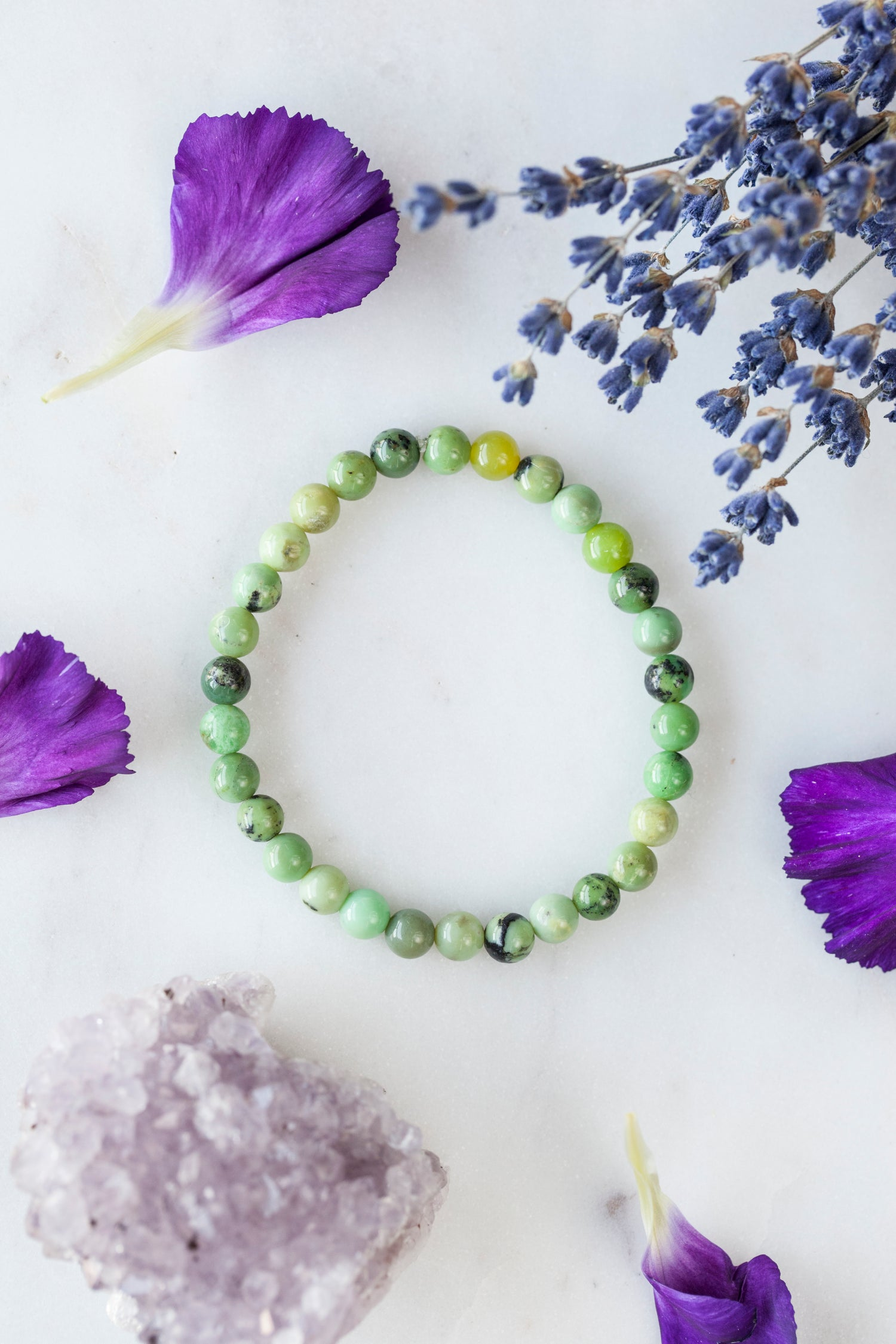 Image of Chrysoprase Stacking Bracelet