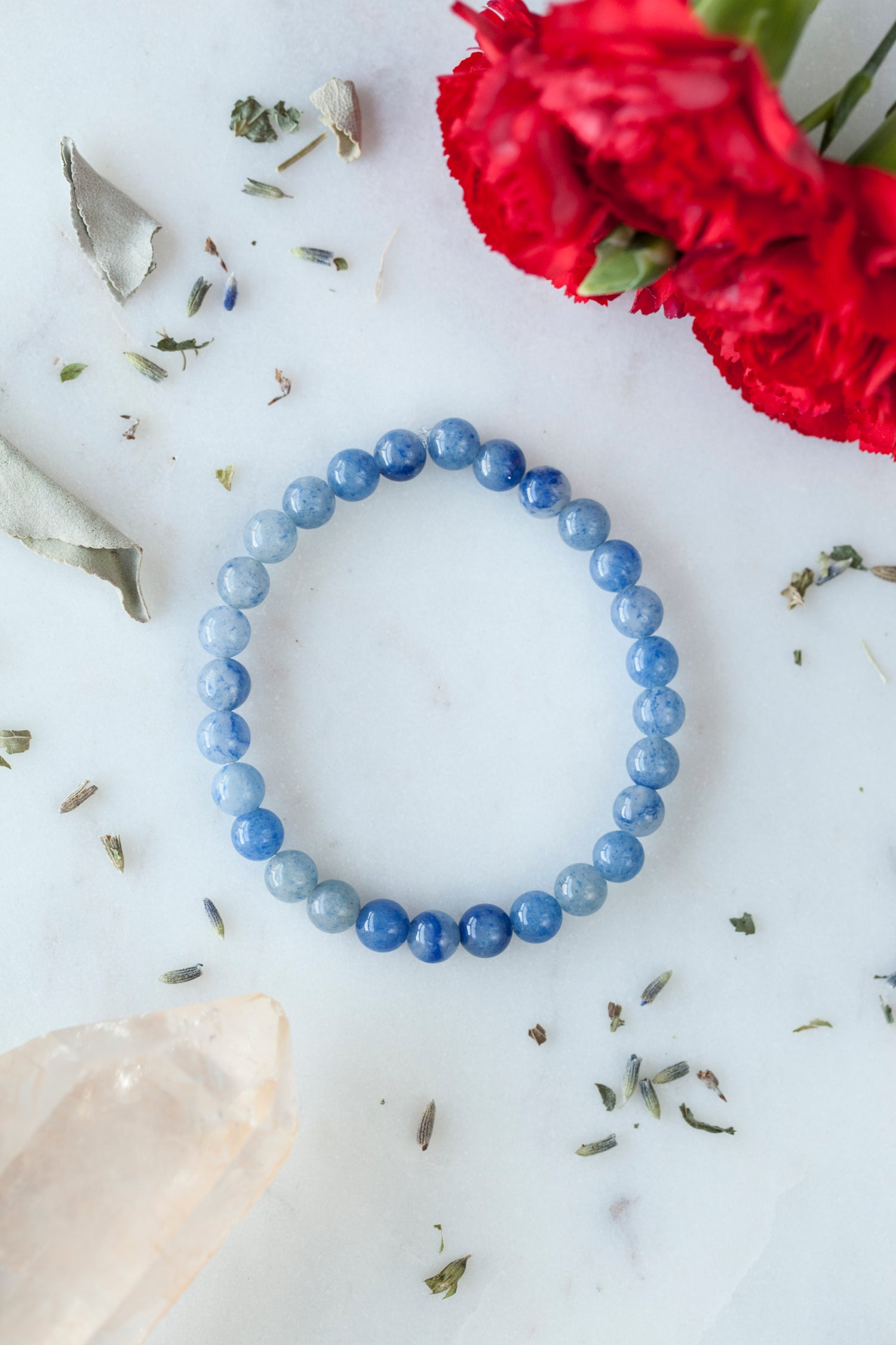Image of Blue Quartz Stacking Bracelet