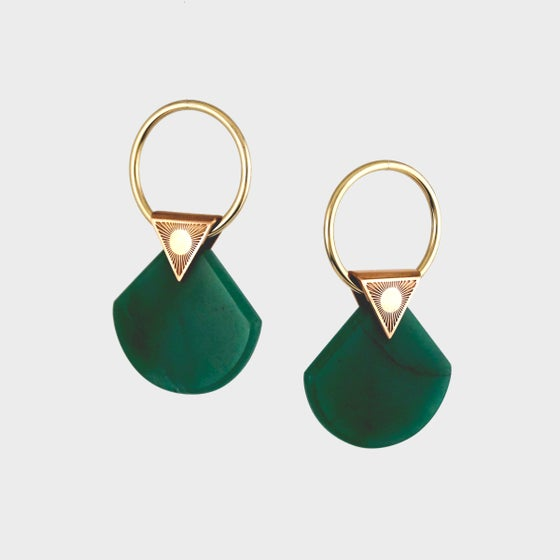Image of Emerald Quartz Ear Weights