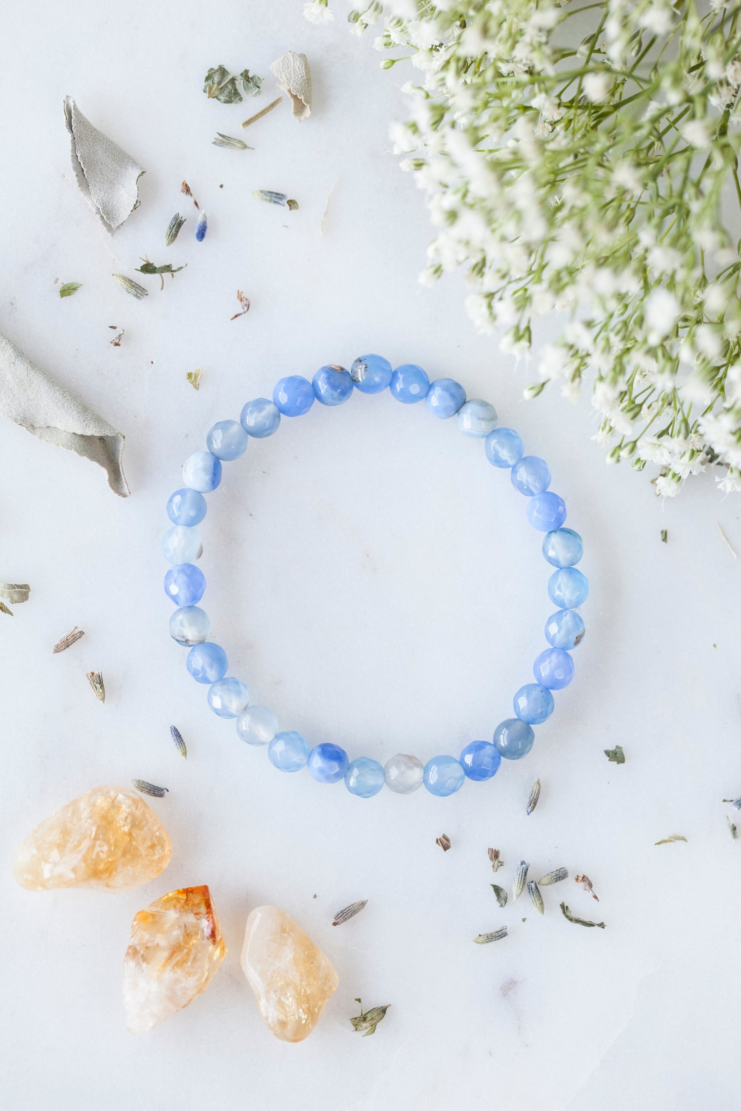 Image of Blue Agate Stacking Bracelet