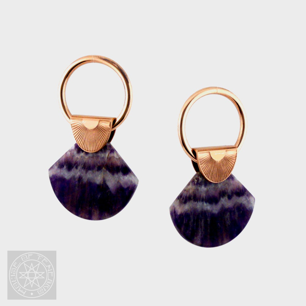 Image of Moroccan Lace Amethyst Ear Weights