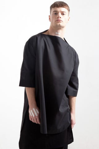 SPLIT NECK SHIRT