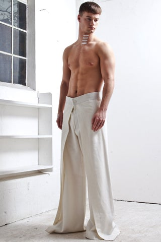 SPLIT TROUSERS CREAM