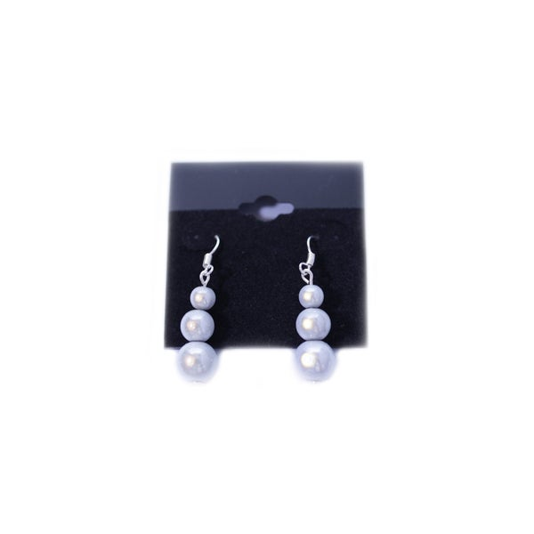 Image of Glow Bead Triple Bead Earrings