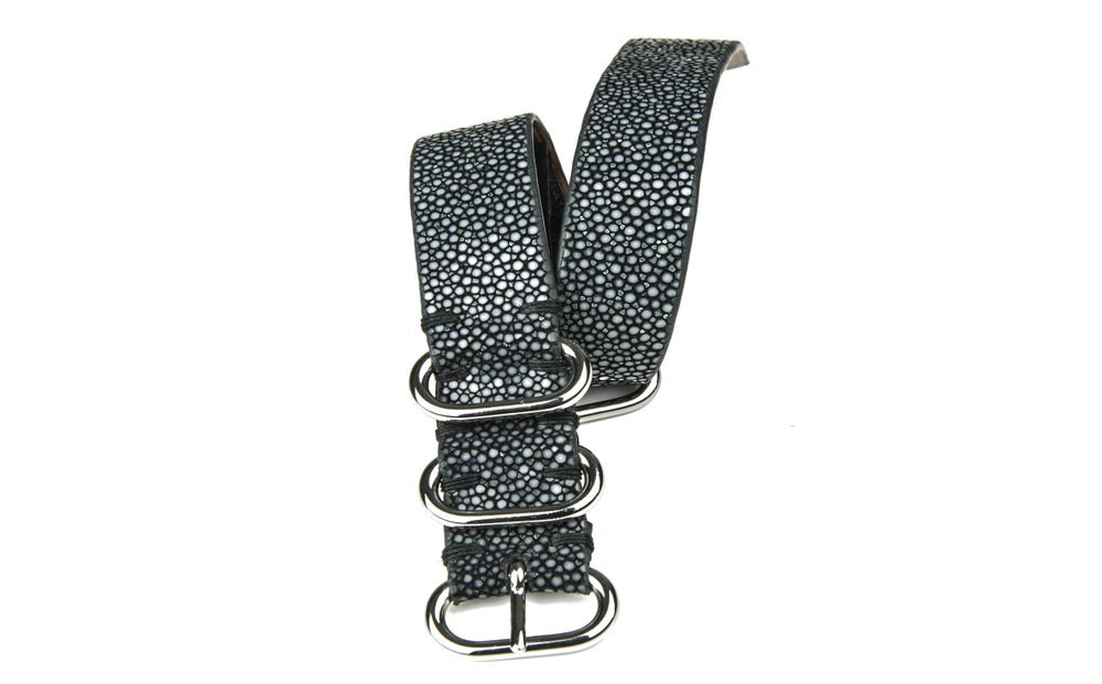 Image of Dark gray stingray NATO strap