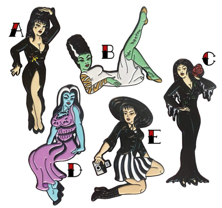 Image of Ghoulish Gal Pinup - Lapel Pin
