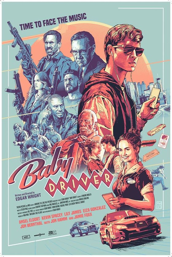 Image of BABY DRIVER SCREEN PRINT BY AURELIO LORENZO