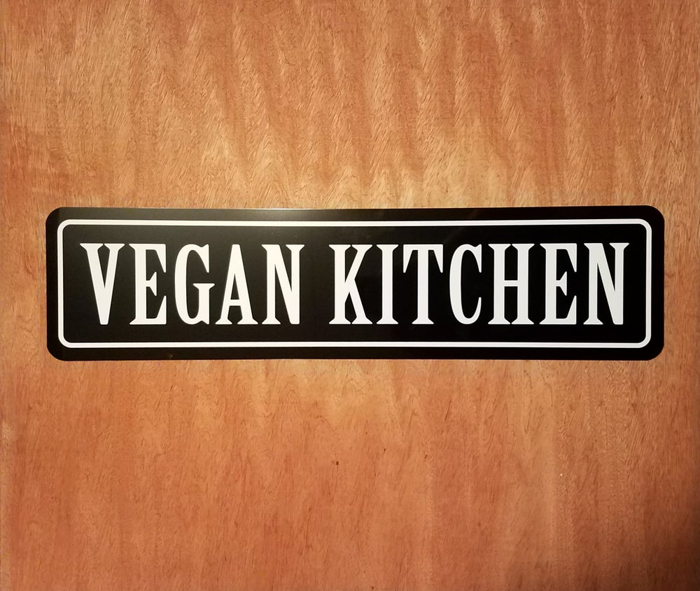 Image of Vegan Kitchen sign