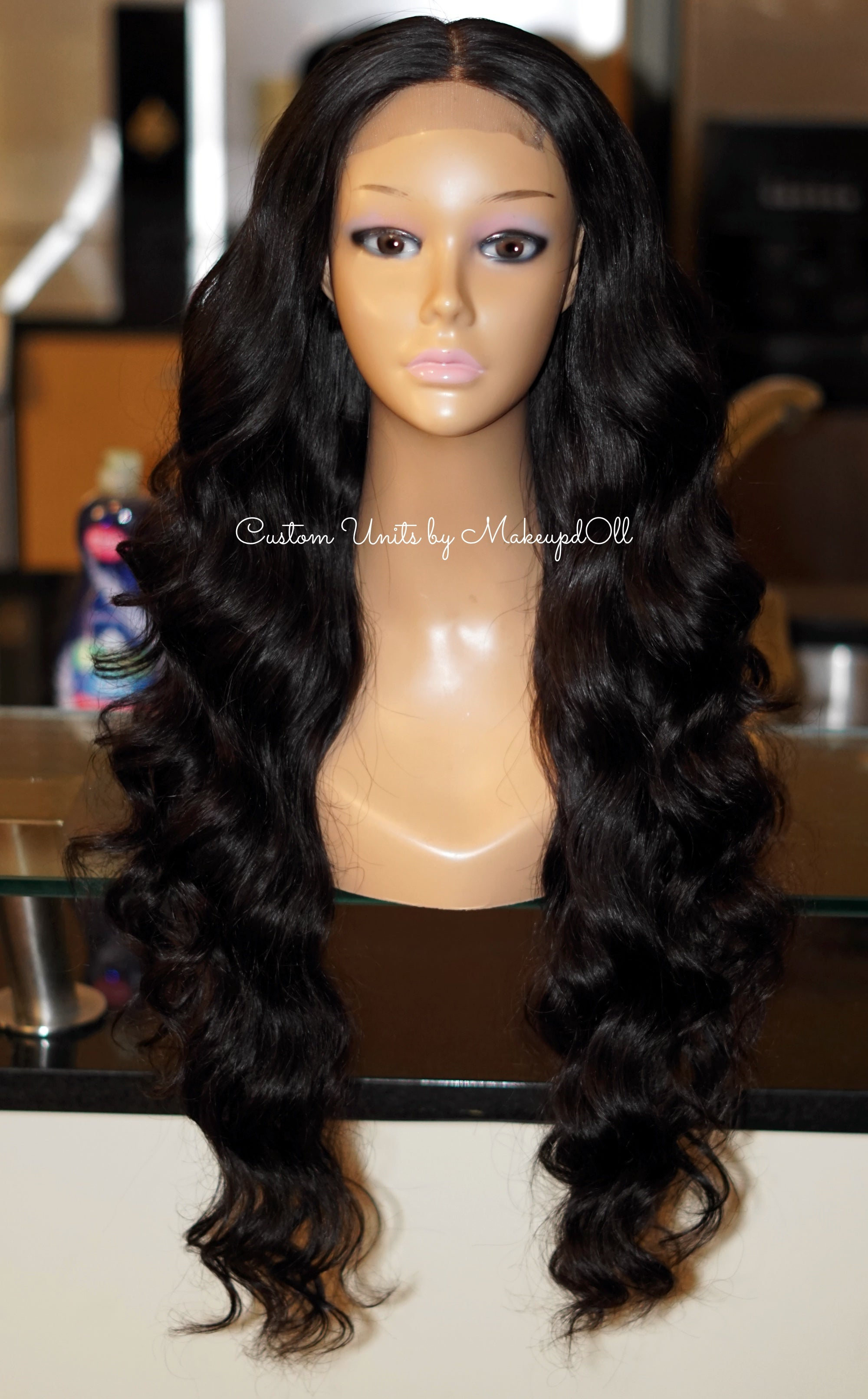 "Image of Brazilian Body Wave 28"" Custom Lace Closure Wig! (Super Full)"