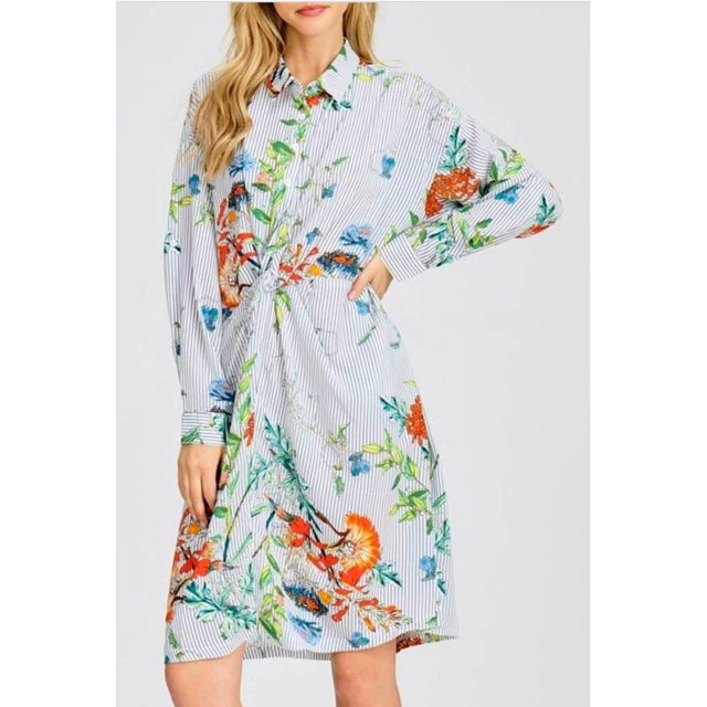 Image of Madison Floral Shirt Dress
