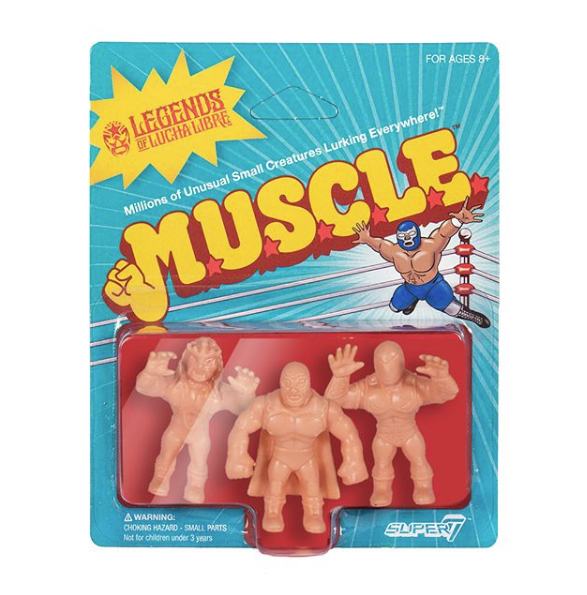 Image of PRE-ORDER: Official Legends of Lucha Libre M.U.S.C.L.E. Figures From Super7