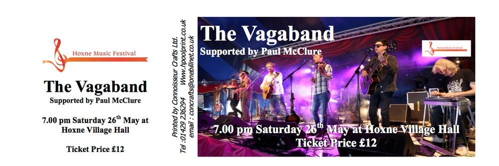 Image of The Vagaband supported by Paul McClure