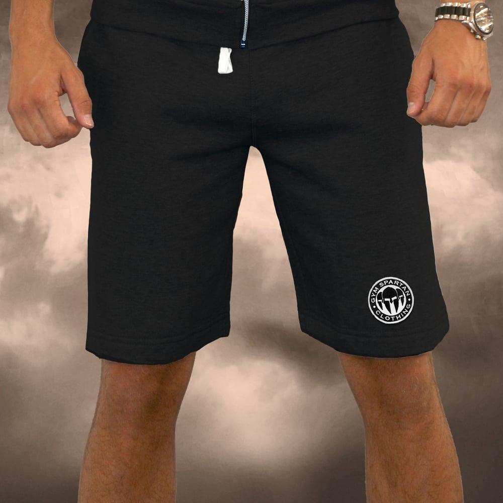 Image of Mens Black Gym Spartan Jersey Shorts
