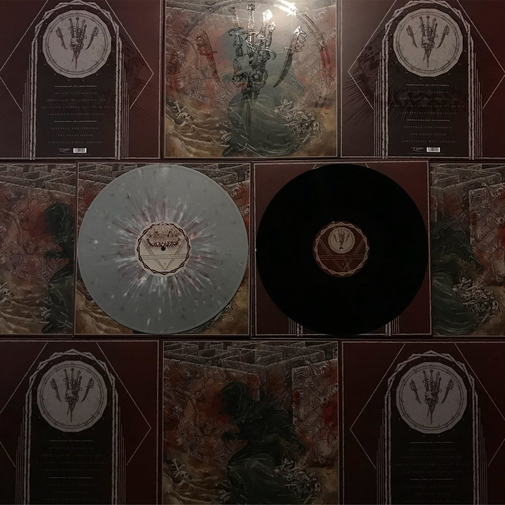 "Image of WITH INEXORABLE SUFFERING 12"" LP, CD, CS"