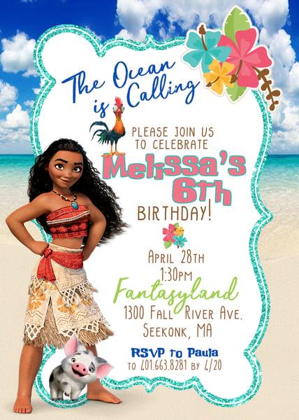 Image of Moana Birthday Invitation