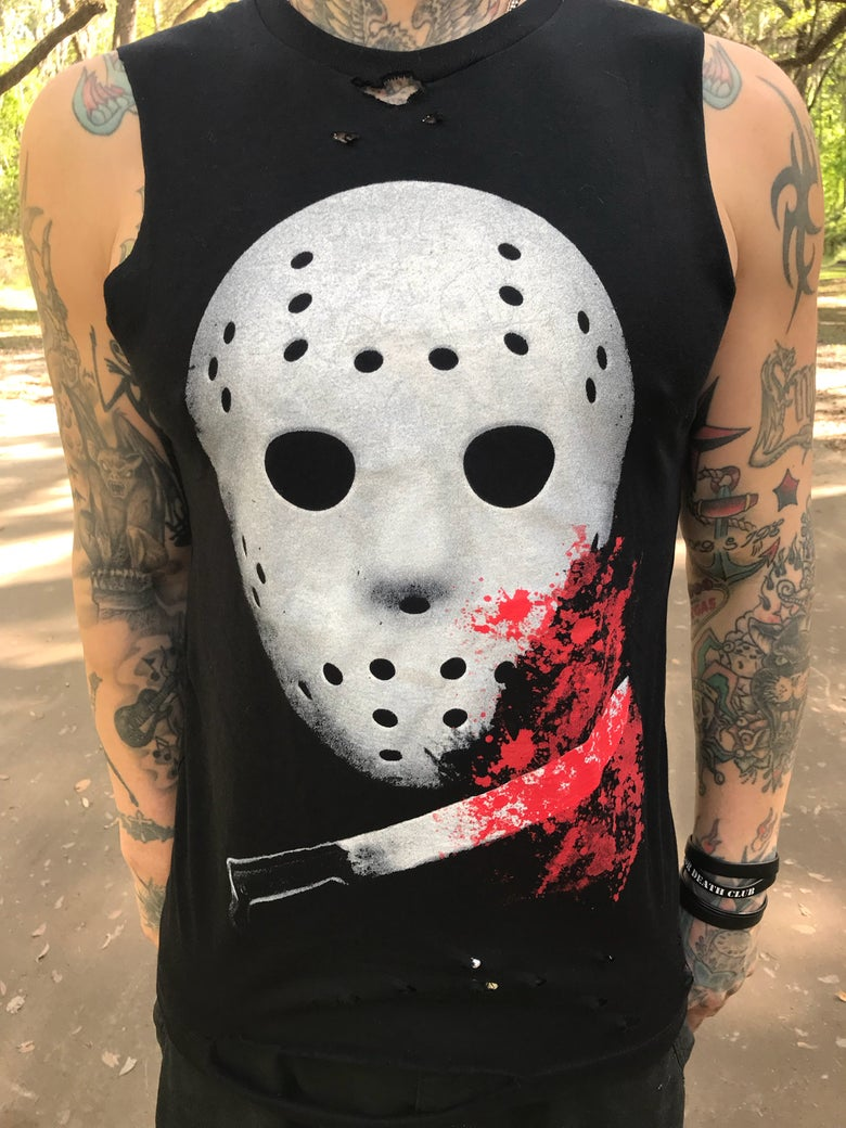 Image of Camp Blood Slashed Tee