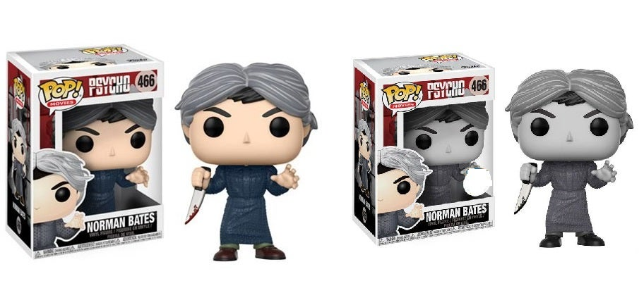 Image of Psycho Norman Bates and Black and White Norman Pop! Vinyl Figure