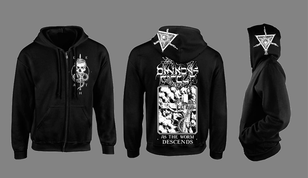 "Image of ""As The Worm Descends"" Zip Hoodie"