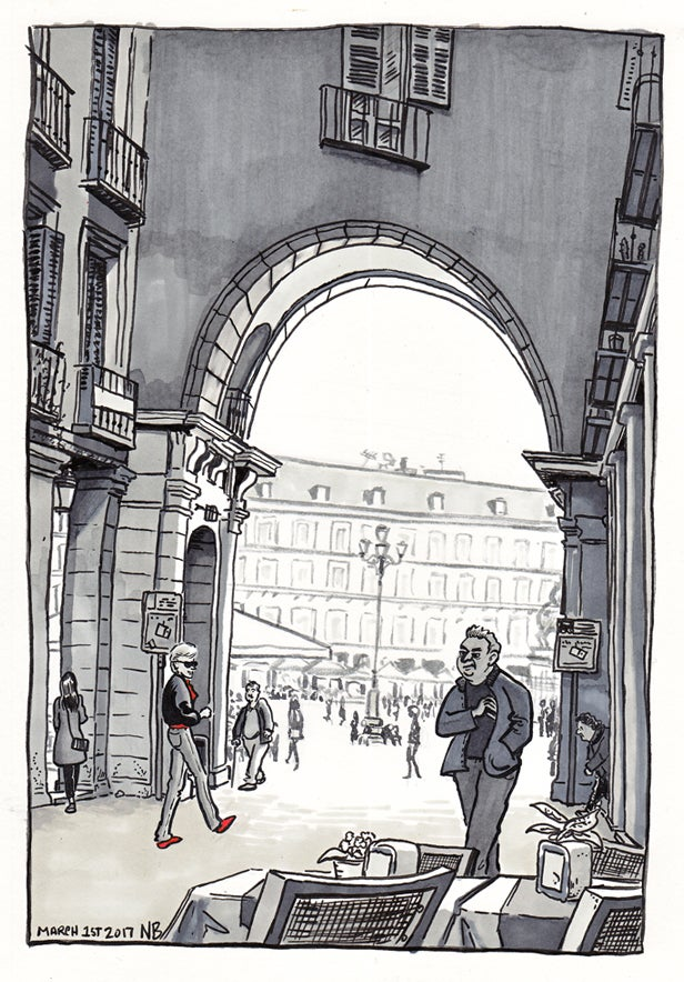 Image of Print: Entrance to Plaza Mayor, March 2017